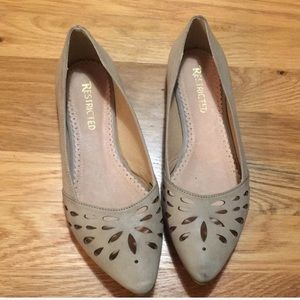 Restricted Shoes - Restricted Taupe Pointed Toe Flats